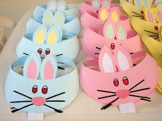 Viseiras de coelho feitas com EVA - Pra Gente Miúda