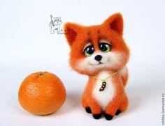 Купить Лисенок Лаки. - рыжий, лисенок, лис, лиса, лисенок из шерсти, Валяние, фильцевание