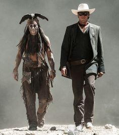 """Johnny Depp y Armie Hammer en """"El Llanero Solitario"""" (The Lone Ranger), 2013"""