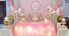 a blog about customized cakes in singapore Carousel Birthday Parties, Carousel Party, Unicorn Birthday Parties, Unicorn Party, Birthday Decorations, Girl Birthday, Table Decorations, Ballet Baby Shower, Ballerina Baby Showers