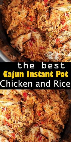 Cajun Instant Pot Chicken and RiceYou can find Healthy instant pot recipes and more on our website.Cajun Instant Pot Chicken and Rice Instant Pot Chicken And Rice Recipe, Best Instant Pot Recipe, Instant Pot Dinner Recipes, Recipe Chicken, Instant Recipes, Cajun Recipes, Healthy Chicken Recipes, Healthy Dinner Recipes, Cooking Recipes