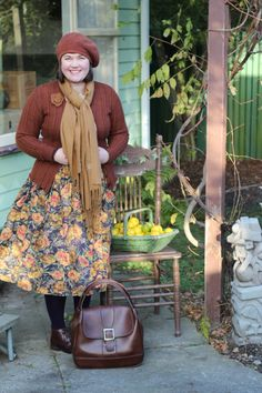 Another fab vintage outfit in gorgeous autumn colours  from Two Squirrels Vintage