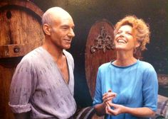 Picard (Patrick Stewart) and his sister-in-law Marie (Samantha Eggar) in Family. Jj Abrams, Patrick Stewart, Sister In Law, Big Star, Star Trek, Movie Stars, Movie Tv, Tv Shows, Sci Fi