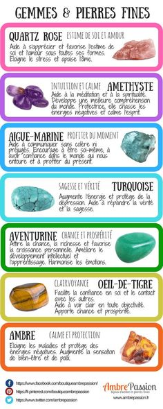 The power of stones - Ambre Passion - Infographic: gems and gemstones - Healing Stones, Crystal Healing, Pierre Ambre, Miracle Morning, Chakra Meditation, Yoga Kundalini, Book Of Shadows, Positive Attitude, Stones And Crystals