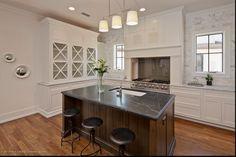dark grey marble kitchen