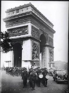 France. Germans in Paris,1940