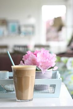 Spring Pirouettes Iced Coffee w\/ extra cream on pink scented afternoons . . .