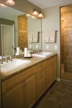 ideas outstanding ideas for bathroom vanity lights using wall mounted lamp shades and frameless large mirrors closed to rectangular undermount sink above shaker maple cabinets