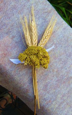 Wheat boutonniere country rustic natural dried by thecoralboutique, $8.50