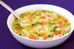 Basil Chicken Orzo Soup