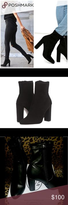 Steve Madden leather high ankle edits With a subtly slouchy shaft and plush texture softening its firm round toe and tall block heel, EDIT is a new cool girl staple bootie. Steven By Steve Madden Shoes Ankle Boots & Booties