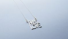 "STERLING SILVER ""FREE LOVE"" PENDANT   #FREELOVE #SILVER #PENDANT"