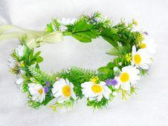 """Веночек на голову летний """"Полевые цветы"""" купить."""