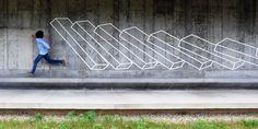 New Geometric Tape Art from Aakash Nihalani tape street art geometric 3d Street Art, Street Art Graffiti, Tape Art, Tape Installation, Art Installations, Colossal Art, Graffiti Wall, Walking In Nature, Public Art