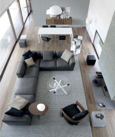 Contemporary modular sofa - PASHA by No Code Design - JESSE