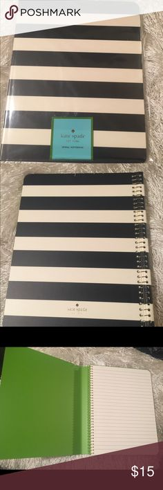 Kat  Spade Spiral Notebook This pretty Kate Spade notebook is perfect for school, work or home. The nice thick sheets and pretty design makes it the perfect notebook. kate spade Accessories