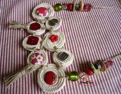 Collier bohême en corde mi-long entièrement fait main N°15 : Collier par claradeco