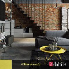 Un muro con ladrillos expuestos y desgastados le da a tus estancias un estilo industrial y moderno. #Decorando #HazloÚN1CO