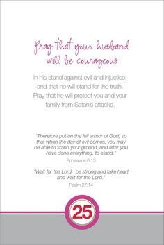 Little Thoughts by LT: Praying for Your Husband : Day 25
