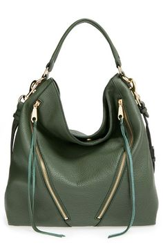 Free shipping and returns on Rebecca Minkoff 'Moto' Hobo Bag at Nordstrom.com. A pair of asymmetrical zip pockets provides a bit of moto edge to a relaxed hobo bag crafted from richly pebbled leather. Gilt hardware and decorative lacing perfect the slouchy silhouette.