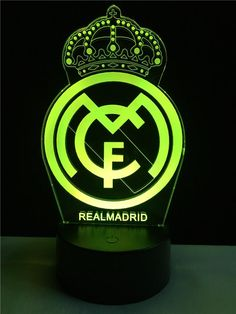 Real Madrid logo LOGO touch 3D colorful Nightlight lamp – 3D Optical Lamp Real Madrid Logo Wallpapers, Real Madrid Pictures, Real Madrid Soccer, Poster Background Design, Neon Logo, Football Art, How Train Your Dragon, Cristiano Ronaldo, Night Light