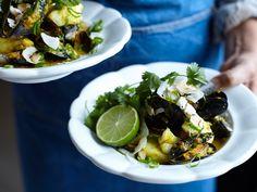 Indisk fisk- och skaldjurscurry med basmatiris   Recept från Köket.se