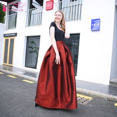 eebc6141dc Aliexpress.com : Buy A Line Long Taffeta Prom Dresses Burgundy Blue Black  Simple Formal Dress Women Skirt from Reliable prom dresses suppliers on  Tanya ...