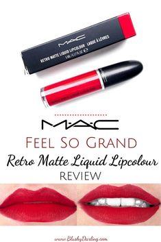 Retro Matte Feel So Grand Liquid Lipcolour Lipstick Mac Liquid Lipstick, Mac Lipstick Swatches, Retro Matte Liquid Lipcolour, How To Apply Lipstick, Liquid Makeup, Mac Lipsticks, Makeup Swatches, Mac Retro Matte, Lip Colour