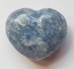 Blue Calcite Mini Puffy Heart for Easier Detox - Put in your Bath or Foot Bath! Healing Crystals, Crystals And Gemstones, Blue Calcite, Easy Detox, Minerals, Hearts, Bangles, Bath, Stickers