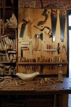 Woodworking tool storage.
