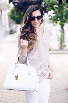 How to wear whites in the cooler months on www.bellebylaurelle.com