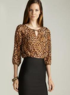 @Overstock.com - Sinequanone Hardware Keyhole Neckline Sheer Animal Printed Blouse - Product is featured in partnership with Loehmann's  http://www.overstock.com/Clothing-Shoes/Sinequanone-Hardware-Keyhole-Neckline-Sheer-Animal-Printed-Blouse/8199280/product.html?CID=214117 $49.99