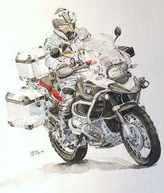 Image end result for GSA LC artwork - Bike Motos Bmw, Bmw Motorbikes, Bmw Motorcycles, Vintage Motorcycles, Bike Bmw, Moto Bike, Motorcycle Posters, Motorcycle Art, Motorcycle Adventure