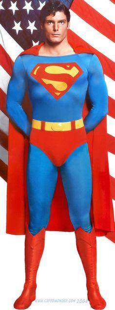 Christopher Reeve as Superman Supergirl Superman, Superman Movies, Superman Family, Superman Man Of Steel, Batman Vs Superman, Superhero Movies, Batman Art, Superman Photos, Superman Poster