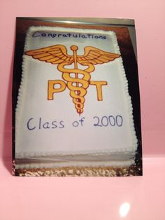 First cake for Chris' UW Physical Therapy graduation.