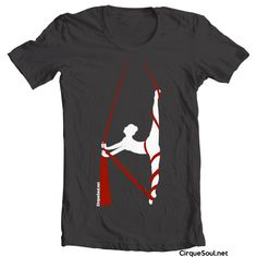 In the Silks - Aerialist or Acrobat Circus T-Shirt. $31.00, via Etsy.