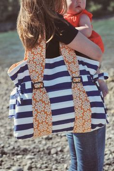 Diaper Bag-- try to find a pattern for this style, love it