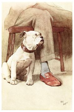The only being that has found an indubitably tangible god.  Cecil Aldin, from My Dog, by Maurice Maeterlinck, London, 1913.  (Source: archive.org)