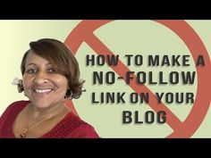 SEO Tip: Add a NoFollow Tag to Affiliate Links on Your Blog - YouTube