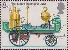 Fire Service 8p Stamp (1974) First Steam Fire-engine, 1830