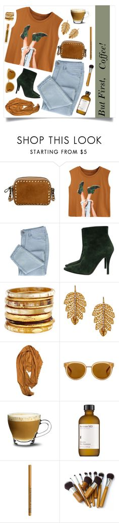 """""""Brown and Green Coffee Set"""" by clarinetist14 ❤ liked on Polyvore featuring Valentino, Ralph Lauren Collection, Ashley Pittman, Marika, Gucci, Draper James, Borgonovo, Perricone MD and NYX"""