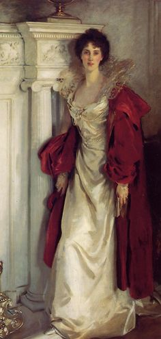 Winifred, Duchess of Portland John Singer Sargent (American, Oil on canvas. In the full length portrait, the Duchess of Portland is standing, book in hand. She wears an elaborate. Paintings I Love, Beautiful Paintings, Oil Paintings, Watercolor Paintings, Beaux Arts Paris, The Duchess, Portland, Portraits, Painted Ladies