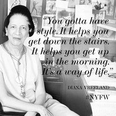 Iconic fashion editor Diana Vreeland. #NYFW