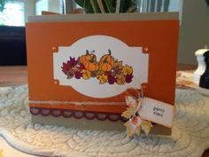 Party Invitation Card using Taylored Expressions Bushel and Peck stamp set.  Designed and hand stamped by Linda Monroe.