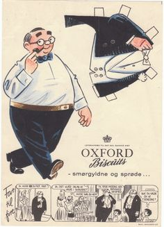 The Paper Collector: Oxford Biscuits paper doll, c 1940s