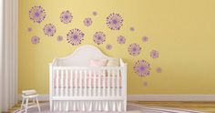 Vinyl Designs, Cribs, Wall Decals, Delicate, Creative, Flowers, Room, Furniture, Link