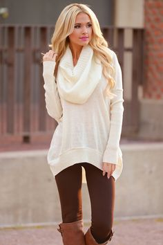 Where Sweet Time Takes Us Sweater - Ivory from Closet Candy Boutique