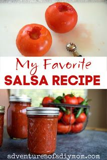 Homemade Salsa Recipe for Canning {Plus an easy trick for peeling tomatoes!} - Adventures of a DIY Mom Salsa Canning Recipes, Pressure Canning Recipes, Canning Salsa, Homemade Salsa For Canning, How To Blanch Tomatoes, Fresh Salsa Recipe, Canning Food Preservation, How To Make Salsa, Healthy Eating Recipes