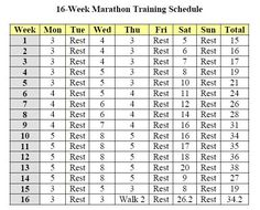 16 Week Marathon Training Schedule | 29 – Training In Progress – Chicago Marathon!