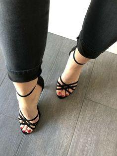 Black Sandals, Shoes, Black Flat Sandals, Zapatos, Shoes Outlet, Shoe, Footwear